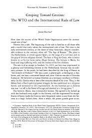 groping toward grotius  the wto and the international rule of law    handle is hein journals hilj  and id is raw text is  volume