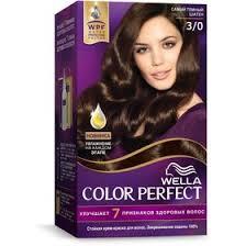 Стойкая <b>крем</b>-<b>краска для волос Wella Color</b> Perfect, 3/0 Черный ...