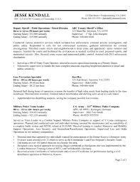 police resume cipanewsletter cover letter sample of resume in sample resume of cashier