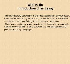 what you need to know about writing an essay the paragraph in writing the introduction of an essay the introductory paragraph is the first paragraph of your essay
