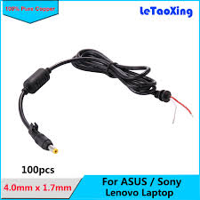 <b>100pcs DHL Free</b> shipping 4.0mm x 1.7mm DC Plug Power cable ...