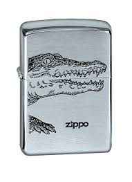 "<b>Зажигалка Zippo</b> ""Brushed Chrome. Alligator"" — купить в интернет ..."