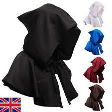 REVERSIBLE ADULT KIDS Satin <b>Gothic Hooded Cloak</b> Cape ...