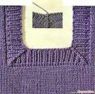 Горловина бейкой вязание спицами