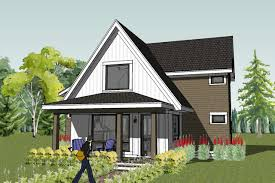 Small house plans and home designs  small cottage  bungalow    Scandia Small Modern Cottage House Plan Small Bungalow