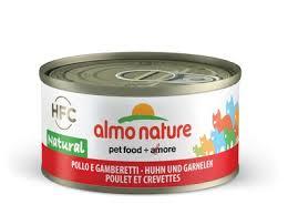 <b>Almo Nature консервы</b> для кошек с курицей и креветками, 75 ...