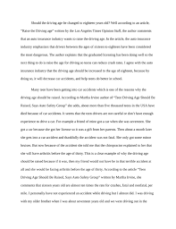 argumentative essay on raising the driving age  writefiction  argumentative essay on raising the driving age