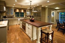 kitchen design cabinets traditional light: hardwood floor design also amazing two tier kitchen island plus traditional bar stools with small pendant