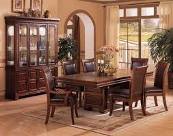 Formal Dining Room Sets With China Cabinet The Viceroy Street Leather Dining Set Dining Room Le Palais Formal