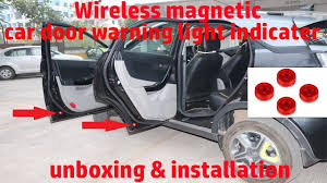 Hindi || <b>Wireless magnetic car</b> door warning light indicator unboxing ...