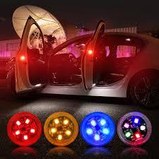 Red 4PCS Universal <b>Wireless Car Opening</b> Door Singal Lights LED ...
