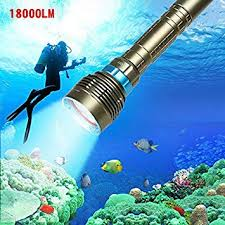 Leoie <b>Ultra</b> Strong Light Diving Flashlight, <b>18000LM</b> 6 <b>LED Torch</b> ...