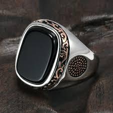 Real Pure Mens <b>Rings</b> Silver s925 Retro Vintage <b>Turkish Rings</b> For ...