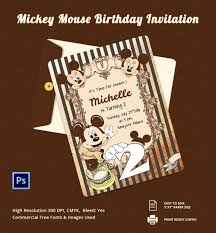invitation card psd ai vector eps format micky mouse birthday invitation card template