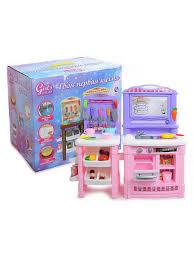 Кухня игровая со <b>светом</b>, <b>звуком</b>, доской для рисования GIRL'S ...