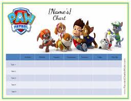 printable chore charts paw patrol chore chart