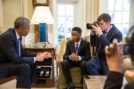 president obama meets vidal chastanet and nadia lopez for the barack obama oval office