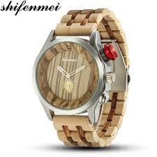 <b>Shifenmei Wood</b> Watch <b>Men</b> Military Sport Wristwatch <b>Mens</b> Quartz ...
