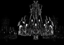 a bit of attitude in baccarats zenith noir 24 the traditional zenith collection has been modernized by philippe stark who uses smoky black crystal to baccarat zenith arm black crystal chandelier