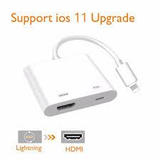 <b>2pcs</b> HDMI <b>Adapter</b> and HDMI <b>Cable</b> for <b>iPhone</b> 6 7 8 X XS XR iPad ...
