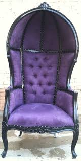 images hollywood regency pinterest furniture: french hooded chair amp purple porters chair domed queen king throne bubble hooded french