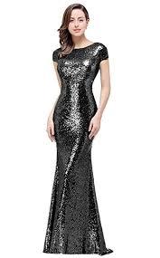 MisShow <b>Women Sequins</b> Prom Bridesmaid Dress Glitter <b>Rose</b> Gold ...