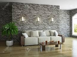 livingroom with sofa near the brick wall stock photo 19984734 brick living room furniture