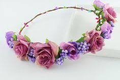 <b>CXADDITIONS Roses Flower</b> lavender garland headband Bridal ...