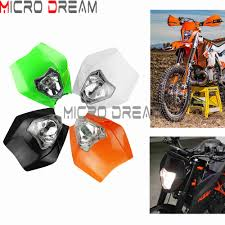 Enduro Cross Dirt Bike Headlight Fairing Universal <b>For KTM Honda</b> ...