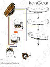 irongear pickups wiring 3 x single coil 1 volume 2 tone 5 way blade selector