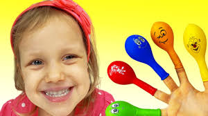 Nastya plays with <b>Balloons</b> | Daddy Finger Nursery Rhymes | 동요와 ...