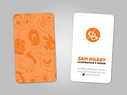 forrst personal business card a post from sambrady i made this card for networking at events and conferences the front is matte spot orange the back side is matte spot orange and a transparent