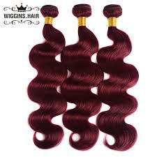 99j burgundy body wave human hair bundles with frontal 13x4 kemy hair brazilian red color closure nonremy