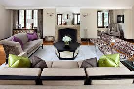 contemporary beige living room with cream shag rug black beige living room
