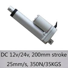free shipping 8inch 200mm stroke length 100n 10kgs load with 40mm s speed 12v dc linear actuator