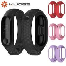 Mijobs New Design <b>Silicon</b> Wrist <b>Strap For Xiaomi</b> Mi <b>Band</b> 3 ...
