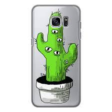 Чехол для Samsung Galaxy S7, объёмная печать кактус #2368837
