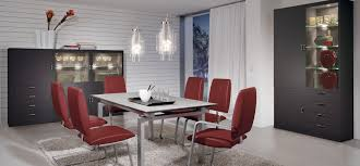 modern dining room tables house  modern red dining furniture