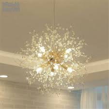 <b>Modern K9</b> Crystal Chandelier G9 <b>LED</b> Dandelion Lights Lustre ...