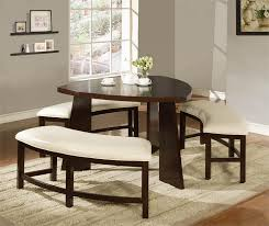 small dining bench: counter height dining room table with bench small sets image appealing