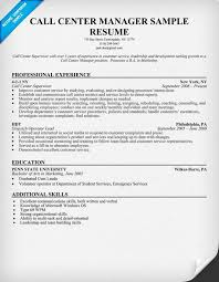 call center job resume examples - Template