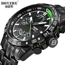 <b>BOYZHE</b> Chronograph <b>Mens</b> Automatic <b>Watches</b> Top Brand <b>Luxury</b> ...