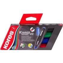 <b>Маркеры Kores</b> перманентные 3 мм 4 цвета купить с доставкой ...