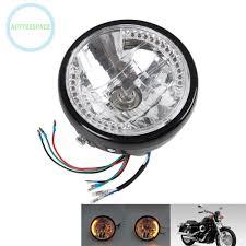 "7"" Motorcycle Headlight <b>Amber</b> Turn Signal LED Indicators For ..."