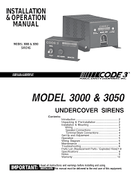 code 3 undercover siren user manual 10 pages Siren Wiring Diagram Siren Wiring Diagram #53 siren wiring diagram for the 2008 harley