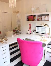 home office room ideas home. l shape desk ikea hack gold white and magenta office decor home room ideas