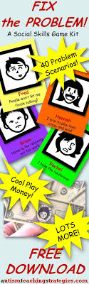 best ideas about social skills activities this social skills kit for children asd s has 40 problem scenarios play money