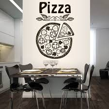 Pizza Pizzeria Italy Food <b>Fashion</b> Pattern Removable <b>Wall Stickers</b> ...