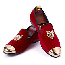 <b>Harpelunde</b> Animal Buckle <b>Men Wedding Shoes</b> Red Velvet ...