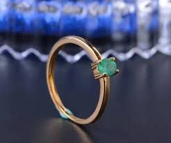 2019 <b>Promotion Natural Emerald Wedding</b> Ring For Woman 0.2 Ct ...